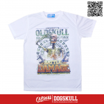 เสื้อยืด OLDSKULL : EXPRESS MILITIA FIGHTING FORCE | WHITE