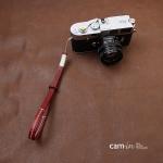 สายกล้องคล้องมือกล้องหนังแท้ Camera Wrist Strap รุ่น Lash สีไวน์แดง