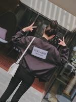(กาพจริง) เสื้อคลุมแฟชั่น แขนยาว มีกระเป๋า ผ้าpoly ester ซิปหน้า ICELAND สีดำ