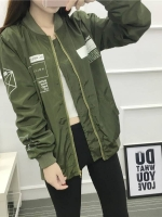 เสื้อคลุมแฟชั่น แขนยาว ผ้าร่ม ลาย HOLY SHIT สีเขียว