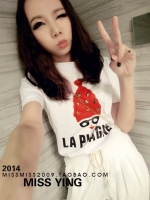 (SALE) เสื้อแฟชั่นน่ารัก หนูน้อยหมวกแดง แต่งเลื่อม สีขาว