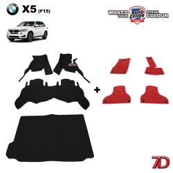 พรมรถยนต์ 7 D Anti Dust รถ BMW X5 (F15) ชุดเต็มคัน รวมแผ่นท้าย จำนวน 4 + 4 ชิ้น