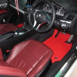 พรมดักฝุ่นไวนิล รถ Benz E Coupe 2 Door W 207 จำนวน 5 ชิ้น
