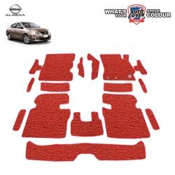 พรมดักฝุ่นไวนิล ORIGINAL รถ Nissan Almera ปี 2011-2018 ชุด Full ภายในห้องโดยสาร จำนวน 16 ชิ้น