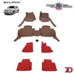 พรมรถยนต์ 7 D Anti Dust รถ NISSAN SYLPHY , PULSA ปี 2012-2018 ชุดภายในห้องโดยสาร จำนวน 3+4 ชิ้น