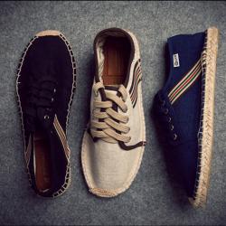 รองเท้าผ้าใบลำลอง ผ้าลินิน