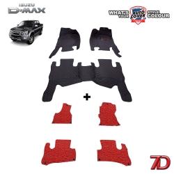พรมเข้ารูป 7 D Anti Dust รถรุ่น ISUZU D-MAX 4 DOOR ปี 2003-2012 จำนวน 3+4 ชิ้น