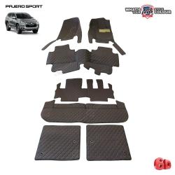 พรมรถยนต์ 6D รถ MITSUBISHI ALL NEW PAJERO SPORT 2015-2019 จำนวน 7 ชิ้น รวมแผ่นท้ายและหลังพนักพิง