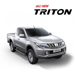 พรมดักฝุ่นไวนิล ชุด Full จำนวน 8 ชิ้น Mitsubishi All New Triton Cab 2015-2019