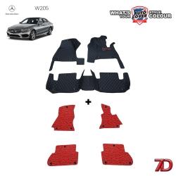 พรมรถยนต์ 7 D Anti Dust รถ MERCEDES - BENZ C CLASS (W205) ชุดในเก๋ง จำนวน 3+4 ชิ้น