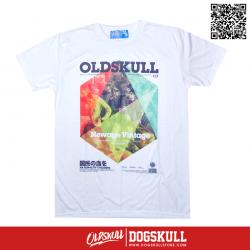 เสื้อยืด OLDSKULL : EXPRESS 113 NATIONALITY COLORING | WHITE