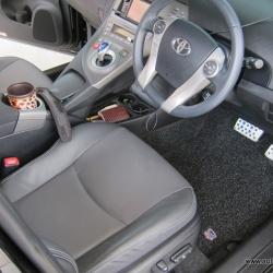 พรมดักฝุ่นไวนิล ชุด Full จำนวน 10 ชิ้น Toyota Prius 2009-2016