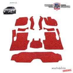พรมดักฝุ่นไวนิล ORIGINAL รถ Honda All New City ปี 2014-2019 ชุด Full ภายในห้องโดยสาร จำนวน 10 ชิ้น
