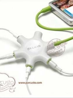 Headphone Splitter ROCKSTAR+AUX CABLE จาก melkin [Pre-order]