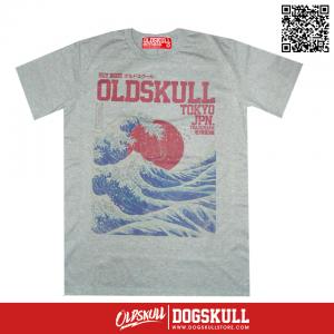 เสื้อยืด OLDSKULL : EXPRESS #37 | Top Dry Grey