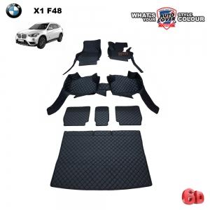 พรมรถยนต์ 6D Leather Car Mat จำนวน 7 ชิ้น BMW X1 (F48) MY.2017-2020