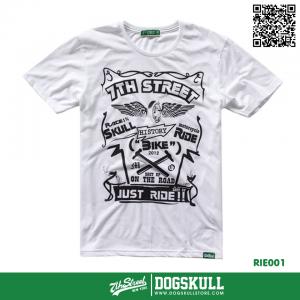 เสื้อยืด 7TH STREET - รุ่น Just Ride | White