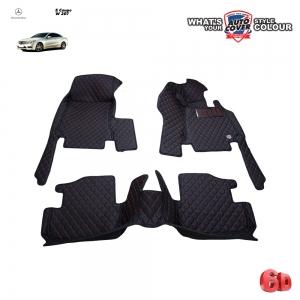 พรมเข้ารูป 6 D Leather Car Mat รถ MERCEDES BENZ E COUPE 2 DOOR W207 จำนวน 3 ชิ้น