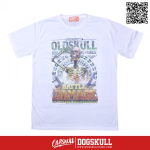 เสื้อยืด OLDSKULL : EXPRESS MILITIA FIGHTING FORCE | WHITE XL