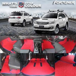 พรมดักฝุ่นไวนิล รถ Toyota Fortuner ปี 2005-2015 ชุด All Full จำนวน 18 ชิ้น