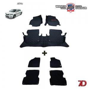 พรมเข้ารูป 7 D Anti Dust รุ่นรถ TOYOTA ALTIS 2008-2013