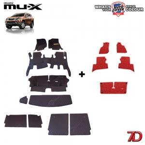 พรมรถยนต์ 7 D Anti Dust รถ ISUZU MU-X จำนวน 10+5 ชิ้น