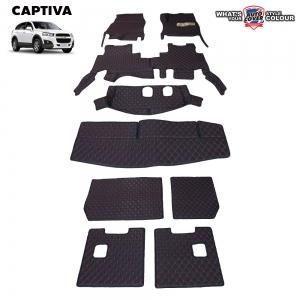 พรมรถยนต์ 6D รถ CHEVROLET CAPTIVA จำนวน 9 ชิ้น ชุดเต็มคัน รวมแผ่นท้ายและหลังพนักพิง