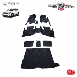 พรมเข้ารูป 6 D Leather Car Mat รถ MERCEDES BENZ GLC CLASS W253 จำนวน 7 ชิ้น