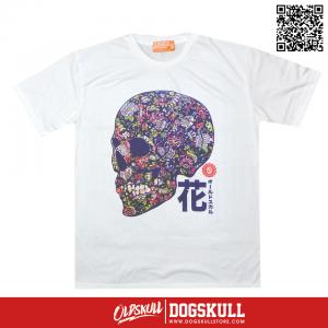 เสื้อยืด OLDSKULL : EXPRESS SUGAR SKULL | WHITE XL