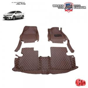 พรมเข้ารูป 6 D Leather Car Mat จำนวน 3 ชิ้น TOYOTA ALL NEW ALTIS ปี 2014-2019