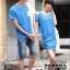 ชุดคู่รัก น่ารัก สีน้ำเงิน ชายXL หญิงM (ราคาขายเป็นคู่) thumbnail 1