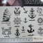 YM-K023 สติ๊กเกอร์สักแฟชั่น sticker tattoo ลายสมอเรือ15.5x10.8 cm thumbnail 3