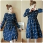 midi dress จั้มใต้อก สีน้ำเงินพิมพ์ลายผ้าฝ้ายระบายอากาศ ใส่ไม่ร้อนค่ะ ผ้านิ่ม มีกระเป๋าค่ะ thumbnail 1