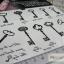 YM-K022 สติ๊กเกอร์สักแฟชั่น sticker tattoo ลายกุญแจ 15.5x10.8 cm thumbnail 11