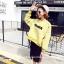 เสื้อแฟชั่น แขนยาว บุกันหนาว winner สีเหลือง