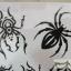 YM-X089 สติ๊กเกอร์ลายสัก tattoo ลายแมงมุม18 x 7 cm thumbnail 6