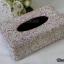 กล่องใส่ทิชชู่เพชร สีชมพูและสีขาวผสมสีรุ้ง กว้าง15 ยาว26 สูง10 เซนติเมตร thumbnail 3