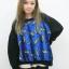 (SALE) เสื้อยืดแขนยาว ลายกล้วย สีน้ำเงิน
