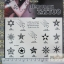 YM-K025 สติ๊กเกอร์สักแฟชั่น sticker tattoo ลายดาว15.5x10.8 cm thumbnail 3