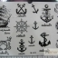 YM-K023 สติ๊กเกอร์สักแฟชั่น sticker tattoo ลายสมอเรือ15.5x10.8 cm thumbnail 1