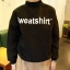เสื้อแฟชั่น แขนยาว ลาย Sweatshirt สีดำ thumbnail 1