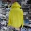 เสื้อคลุม แขนยาวผ้าร่ม มีฮูด ซิปหน้า สีเหลืองเรืองแสง thumbnail 3
