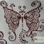 YM-K101 สติ๊กเกอร์สักแฟชั่น sticker tattoo ลายผีเสื้อ 15.5x10.8 cm thumbnail 3