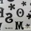 YM-K016 สติ๊กเกอร์สักแฟชั่น sticker tattoo ลายตัวอักษร15.5x10.8 cm thumbnail 4