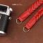 สายกล้องหนังแท้คล้องคอ หนังถัก สีแดง thumbnail 7