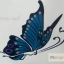 YM-K114 สติ๊กเกอร์สักแฟชั่น sticker tattoo ลายผีเสื้อ 15.5x10.8 cm thumbnail 4