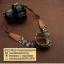 สายคล้องกล้องแฟชั่น cam-in Vintage Black Apple berry thumbnail 5