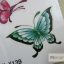 YM-X139 สติ๊กเกอร์ลายสัก tattoo ลายผีเสื้อ18 x 7 cm thumbnail 3
