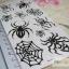 YM-X089 สติ๊กเกอร์ลายสัก tattoo ลายแมงมุม18 x 7 cm thumbnail 7