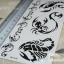 YM-X104 สติ๊กเกอร์ลายสัก tattoo ลายแมงป่อง18 x 7 cm thumbnail 5